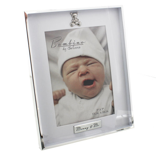 Bambino Silver Plated Photo Frame Mummy And Me 5x7