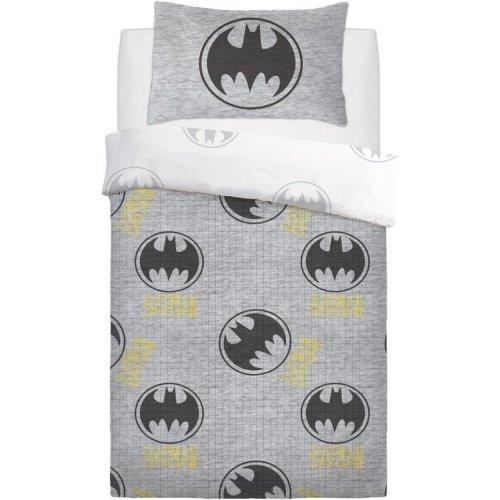 Batman Grey Lego Reversible Duvet Quilt Cover