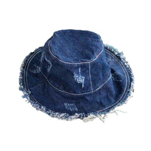 Womens Sun Hat Casual Foldable Sun Visors Girls Sun Protection Wide Brim Hats, Blue