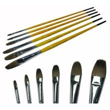 Oil painting / Watercolor Paintbrushes Handled Paint Brush Sets, 6-Piece(DS826)