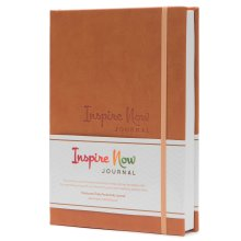 INSPIRE NOW – A5 Daily Productivity Planner, Daily Organiser (Light Brown)