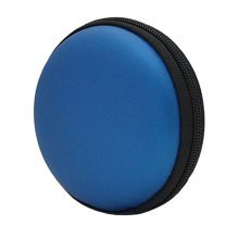 Portable PU Leather Earbuds Cases Earphone Holder Earbud Pouch Coins Bags, Blue