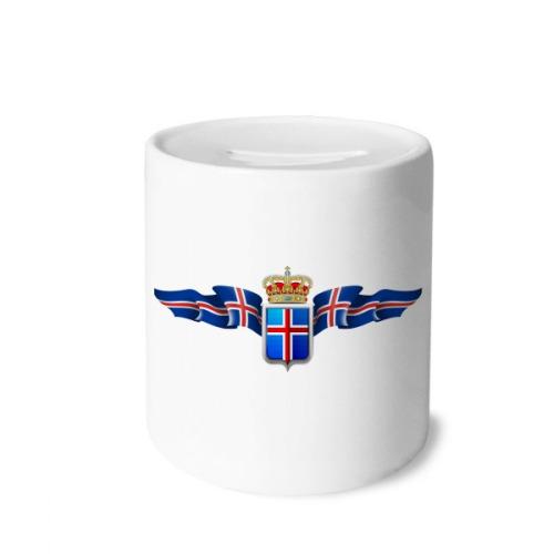 Iceland National Emblem Country Symbol Money Box Saving Banks Ceramic Coin Case Kids Adults