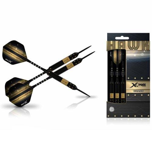 XQmax Darts Dart Set Hawk 3 pcs 21g Brass Steel Play Throwing Game QD1103130