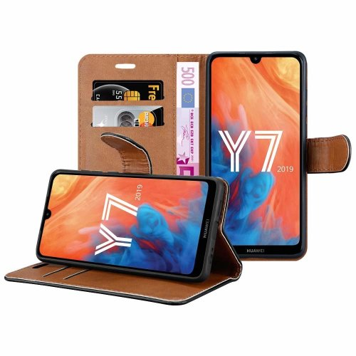 For Huawei Y7 2019 Wallet Book Leather Case Cover