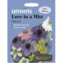 Unwins Pictorial Packet - Love In A Mist Allsorts - 380 Seeds