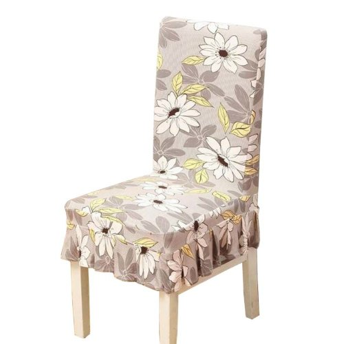 [Flowers-07] Stretch Dining Chair Slipcover Chair Cover Chair Protector