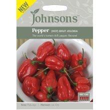 Johnsons Seeds - Pictorial Pack - Vegetable - Pepper (Hot) Bhut Jolokia - 10 Seeds