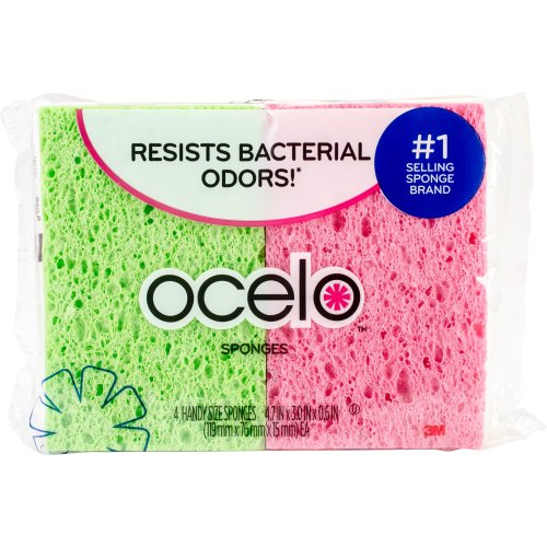 O-Cel-O Cellulose Sponges 4/Pkg-
