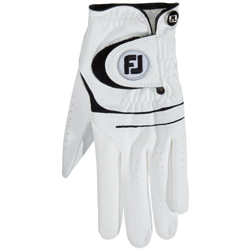 FootJoy WeatherSof Golf Gloves, White, ML - pack of 2