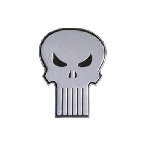 Sticker - Marvel - Punisher - Skull on Silver Metal 6cm New Toys s-mvl-0009-m