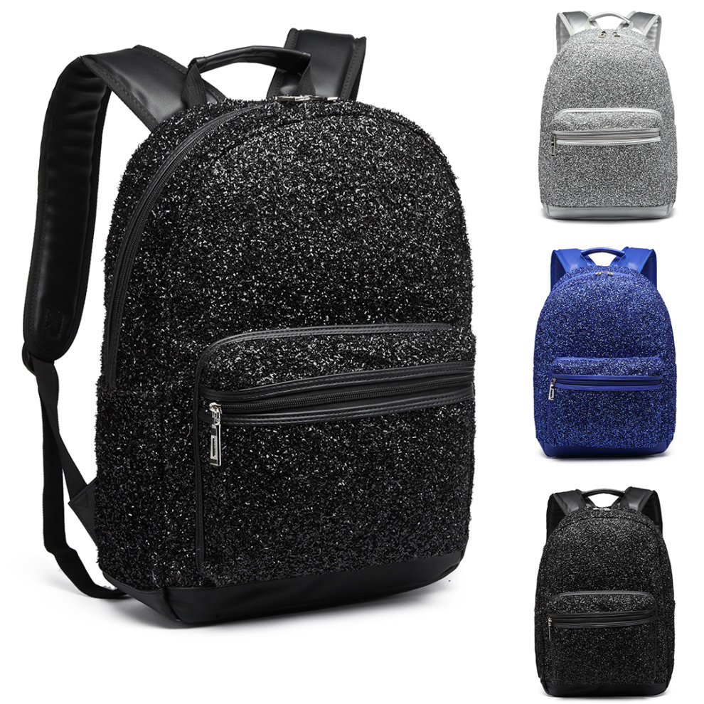 18bddac1d Miss Lulu Women Glitter Backpack Girls School Bag Rucksack on OnBuy