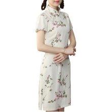 Elegant Chinese Dress Qipao Dresses Cheongsam Women Clothing Skirt XXL-01
