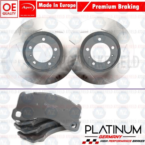 and Pads Set for LAND ROVER RANGE ROVER SPORT 4.2 l Pair Front Apec Brake Disc