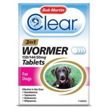 Bob Martin Clear 3 in 1 Wormer Tablets for Dogs