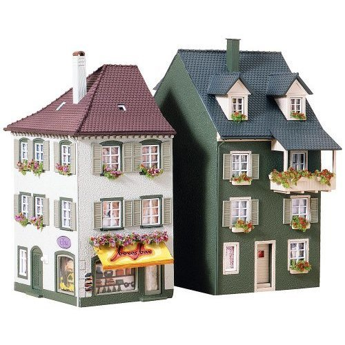 Faller 130414 2 Flats with lower shops HO Scale Building Kit