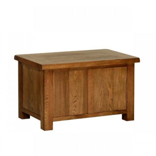 Devonshire Rustic Oak Furniture Small Blanket Box