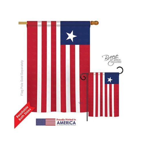 Breeze Decor 08367 Liberia 2-Sided Vertical Impression House Flag - 28 x 40 in.