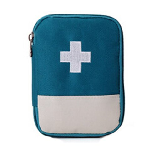 Unique Portable First Aid Kit Travel Medical Box for Camping, Hiking-Blue