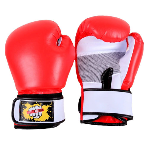 Premium Boxing Gloves MMA Muay Thai Training  for Fighters - Red