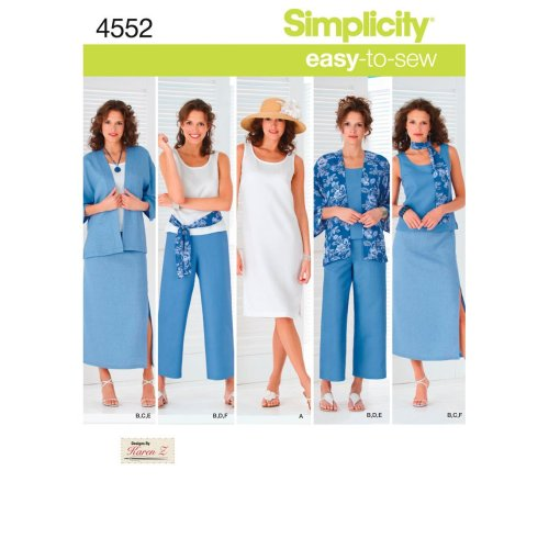 Simplicity Misses'/Women's Skirt, Croppe-10 12 14 16 18