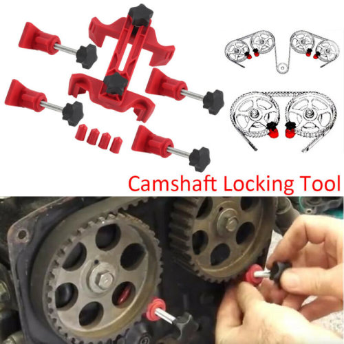 Universal 9pc Dual Cam Camshaft Clamp Timing Sprocket Gear Locking Kit Hand Tool