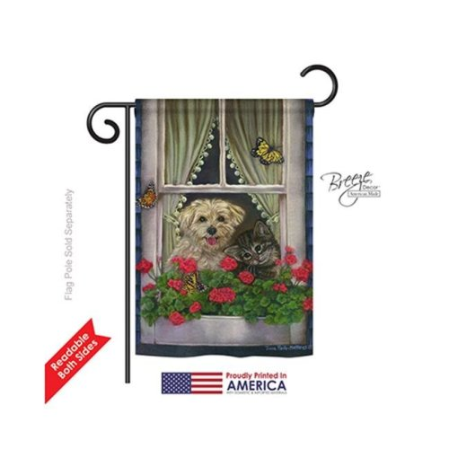 Breeze Decor 60056 Pets Faithfully Yours 2-Sided Impression Garden Flag - 13 x 18.5 in.