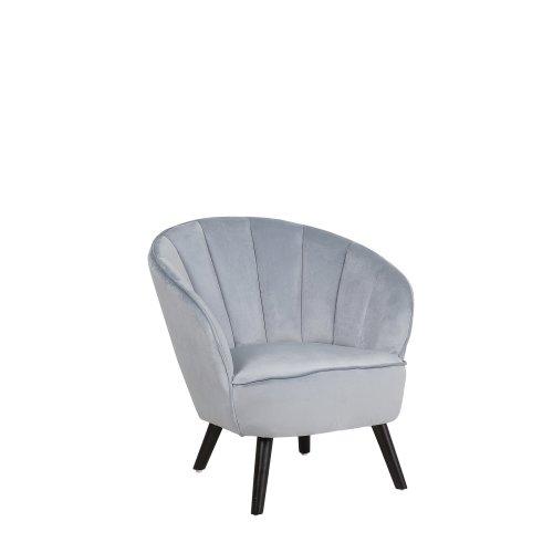 Velvet Armchair Light Grey DALA