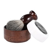 Anself 3 In 1 Mens Shaving Razor Set Beard Cleaning Kit Badger Hair Brush  Soap Bowl  Shaving Soap