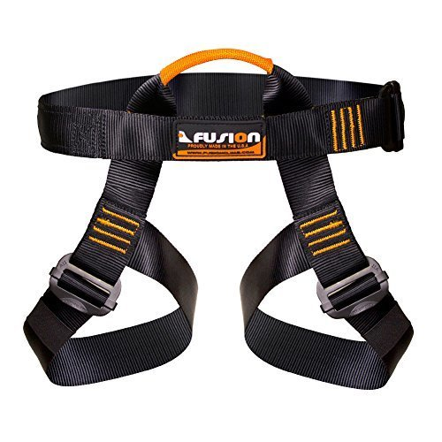 Fusion Climb Centaur Half Body Harness Black M XL for Climbing Gym amp Rope Course