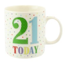 Lesser Pavey 21 Today Mug - Birthday Box New Fine China Official Party Product -  lesser pavey 21 today birthday mug box new fine china official