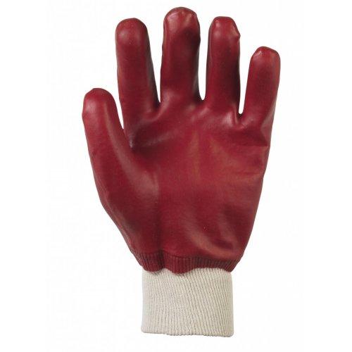 Glenwear PVC Coated Waterproof Glove Red