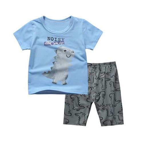 Boys Summer Pajamas Children Cartoon  Clothes Kids 2 Pieces Short Set