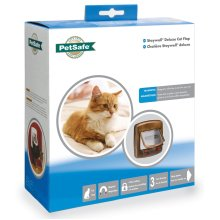 Staywell Deluxe Magnetic Cat Flap Woodgrain