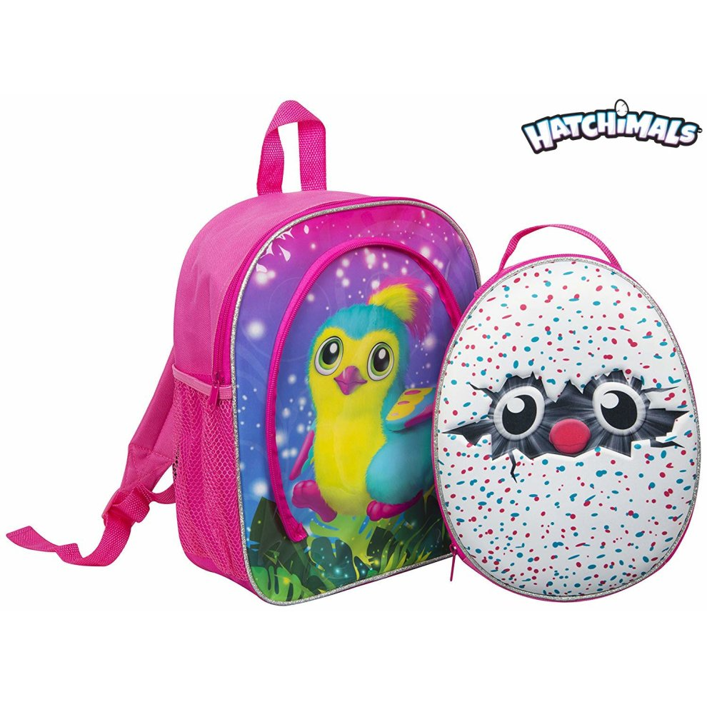 602cabd48502 Hatchimals Coleggtibles School Bag Thermal Lunch Bag for Girl Back to  School Essential Backpack 2 Back Packs in 1 Holiday