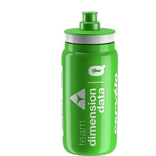 Elite Unisex's Fly Dimension Data 2018 Team Bottle, Green, 550 ml