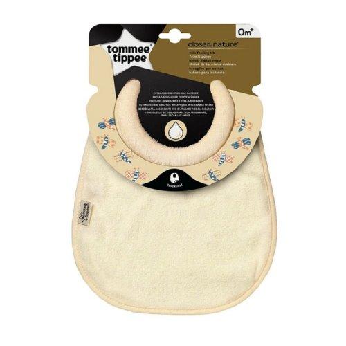 Tommee Tippee Closer To Nature Milk Feeding Bib - Cream | Baby Dribble Bib