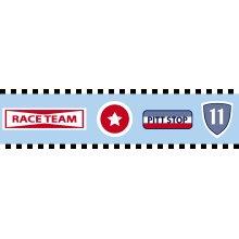 wallpaper border race team emblems heavenly blue - 174901
