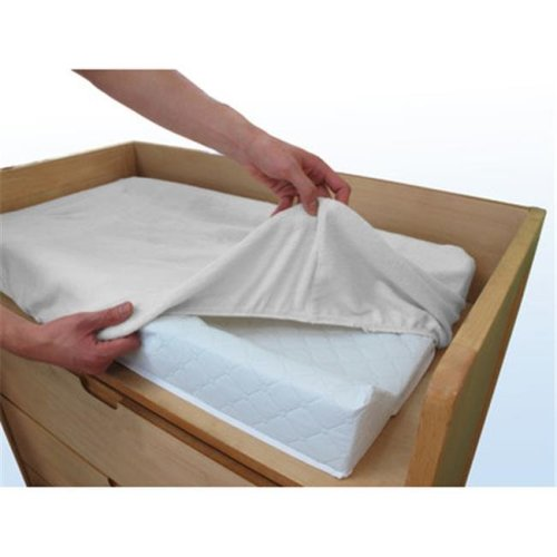 L A Baby  Combo Pack with 32 in. Contour Changing Pad and White Terry Cover