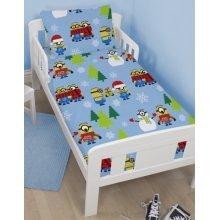 Minions Christmas cotton blend junior cot bed duvet cover