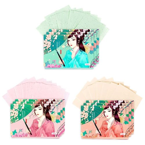 Double-sided Makeup Blotting Papers Face Oil Absorbing Paper set, 250 Sheets (B)