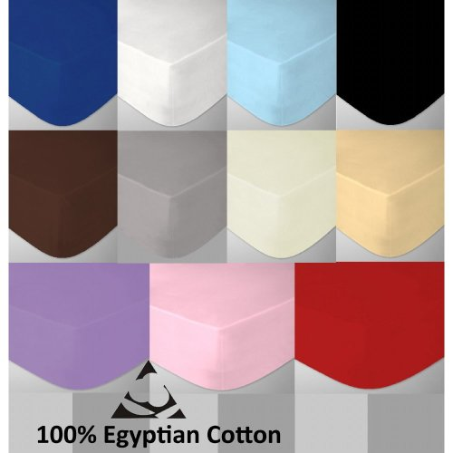 Egyptian Cotton Cot Bed Fitted Sheet 200 Thread Count  70 x 140cm