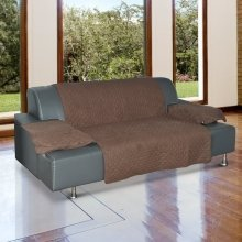 PawHut Furniture Protector for Pets Sofa Cover Brown