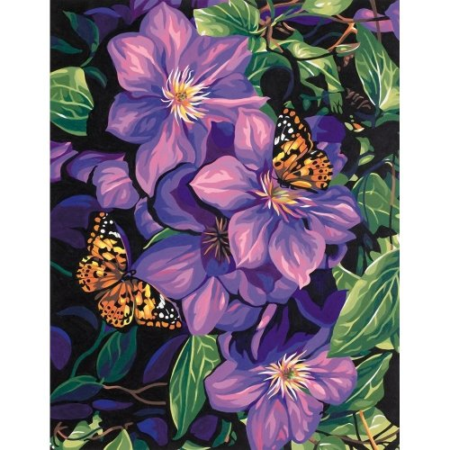 Dpw91403 - Paintsworks Paint by Numbers - Clematis & Butterflies