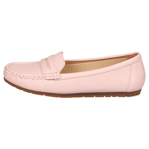 First Feet Fashion Celinda Womens Comfortable Loafers Shoes Cushioned Sole Moccasins Loafers Flats