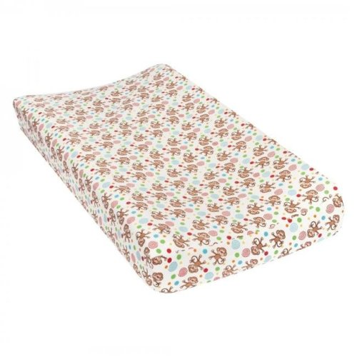 TrendLab 101485 Monkeys Deluxe Flannel Changing Pad Cover