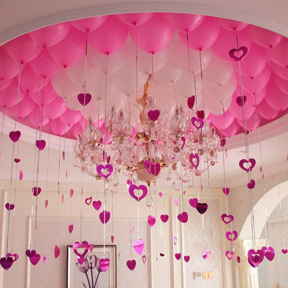 ... Minleer Latex Balloons (200pcs), 12 inch Pink and white Party Balloons wedding/ ...