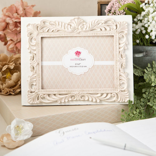 Vintage Design Guest Book With A Front 5x7 Photo Cover