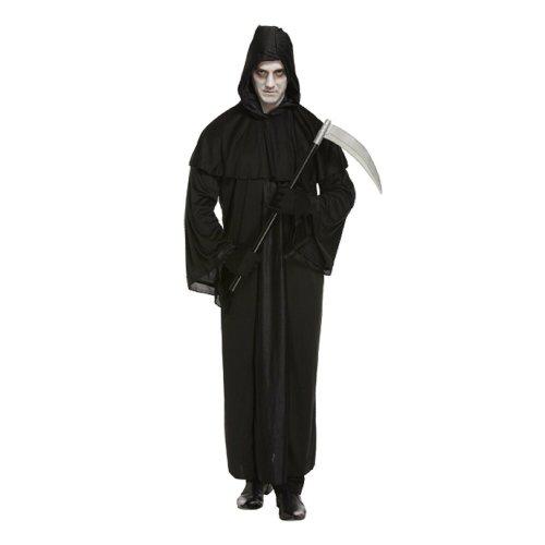 Death Grim Reaper Scary Halloween Fancy Dress Costume Adult Medium Grim Scream