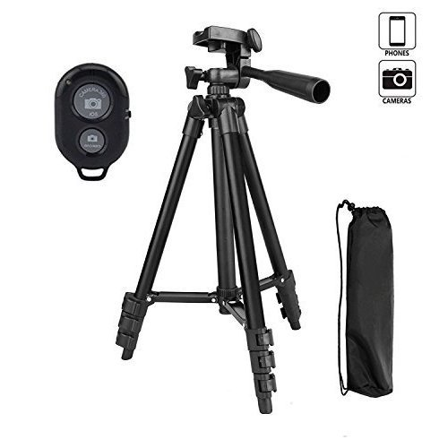 Camera Tripod,You King 42 inch Phone Tripod for Iphone And Smart Phone, Aluminum Tripod With Remote Control(black)